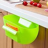 シンク が広く使える キッチン ごみ入れ ミニ ブラシ セット (4.グリーン)