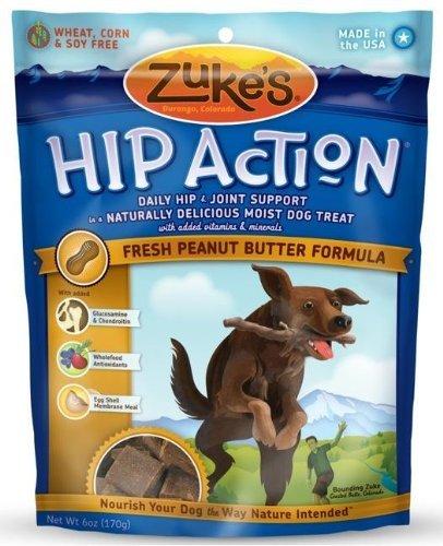 Hip Action Dog Treats - 6 Oz. - Peanut Butter (Zu21052) -