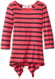 Derek Heart Big Girls Striped Top with Shirttail Hem