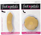 Foot Petals Women's Tip Toes 3 Pack & Heavenly Heelz 3 Pack Cushion Combo,Multi,one size