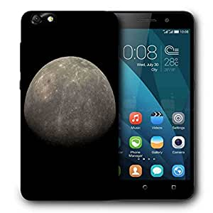 Snoogg Grey Moon Printed Protective Phone Back Case Cover For Huawei Honor 4X