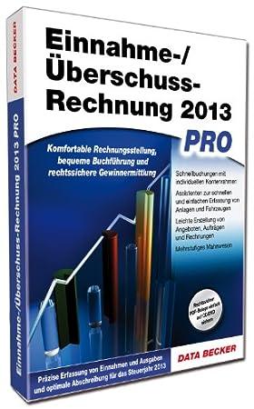 Einnahme-/Ueberschussrechnung 2013 Pro