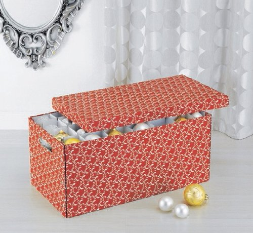 Neu Home Christmas Ornament Storage Box With Dividers