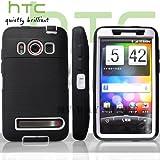 HTC EVOケース スクリーン プロテクター付属3重構造 (au WiMAX ISW11HT Screen Protector Case ) 【白× 黒】