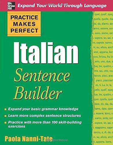 Italian Sentence Builder (Practice Makes Perfect)