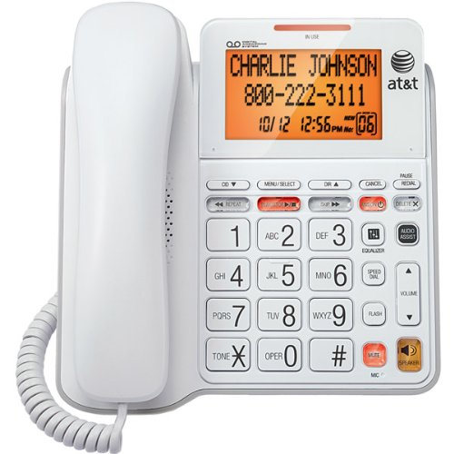 Corded Answering System with Large Displ