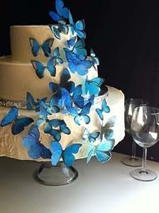 Amazon.com: Edible Butterflies © - Assorted Set of 30 Blue ...
