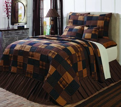 Patriotic Patch 5 Piece King Quilt Set - Country Quilts : country quilt set - Adamdwight.com