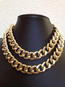 N111 2013 gold color jewelry Wholesale fashion Holiday gift guide New Year Holiday gifts December Unique gifts birthday gift for girls gift for women Engagement Wedding Gift for Bridesmaid Freedom Large Chunky Gold plate Chain Super Light Gold links double fashion necklace