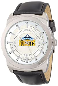 Game Time Mens NBA-VIN-DEN Vintage NBA Series Denver Nuggets 3-Hand Analog Watch by Game Time