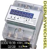 B+G E-Tech DRT428BC - digitaler Stromzähler Drehstromzähler Wattmeter für DIN Hutschiene , Energiemessgerät mit Wattanzeige 3x230/400V 20(80)A