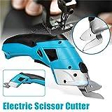 JohnnyBui - KIWARM 1PC 4V Electric Scissor Auto Cutter Cordless Tailors Scissors Rechargeable For Cutting Garment Fabric Portable