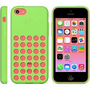 Apple MF037ZM/A Silicone Case for Apple iPhone 5C (Green)