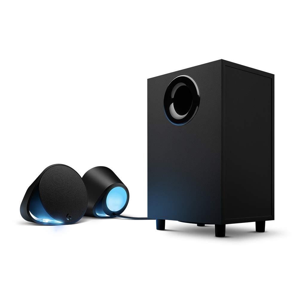 로지텍 G560 라이트싱크 PC 게이밍 스피커 (게임 전용 입체 스피커) Logitech G560 LIGHTSYNC PC Gaming Speakers with Game Driven RGB Lighting