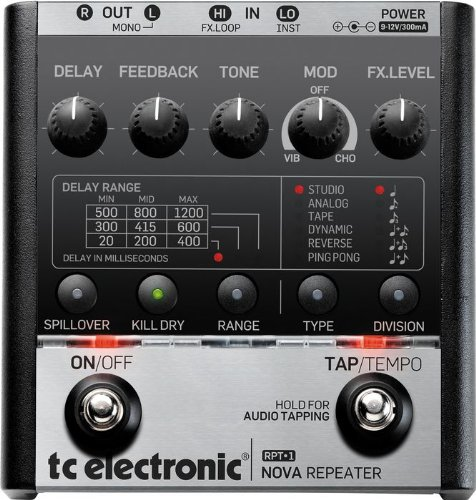 Tc Electronic Rpt-1 Nova Repeater Stereo Delay Guitar Effects Pedal