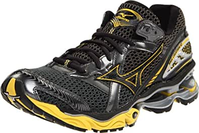 Mizuno Men's Wave Creation 12 Running Shoe,Gunmetal/Super Lemon-Anthracite,12.5 M US