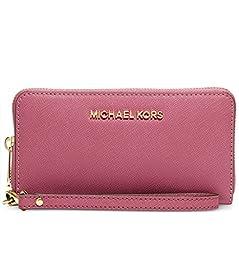 Michael Michael Kors Jet Set Travel Large Coin Multifunction Wallet (Tulp)