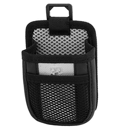 uxcell Auto Interior Black Silver Tone Meshy Style Air Vent Phone Holder Bag Pouch (Air Vent Pouch compare prices)