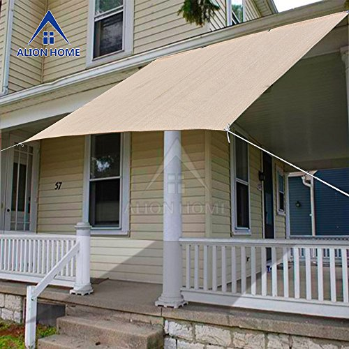 alion home sun shade panel for patio awning window cover instant canopy side wall pergola or gazebo banha beige - Patio Sun Shades