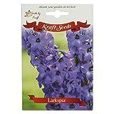 Larkspur Flower Seeds by Kraft Seeds