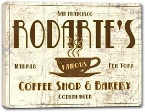 RODARTE'S Coffee Shop & Bakery Stretched Canvas Print