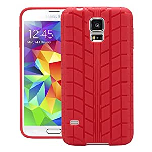 Galaxy S5 G900H Back Cover, Back Cover For Samsung Galaxy S5 G900H (Red) - By QUICKSAND