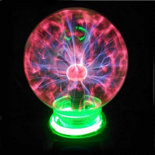 AUCH 1Pcs High Borosilicate Glass Magic Flashing Static/Ionic Ball, Rainbow Color