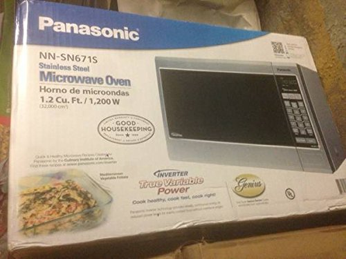 Panasonic Nn-Sn671S 1.2 Cuft 1200-Watt Microwave With Inverter Technology, Stainless Steel