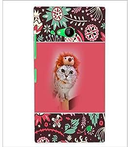 PrintDhaba Kittin D-5710 Back Case Cover for NOKIA LUMIA 730 (Multi-Coloured)