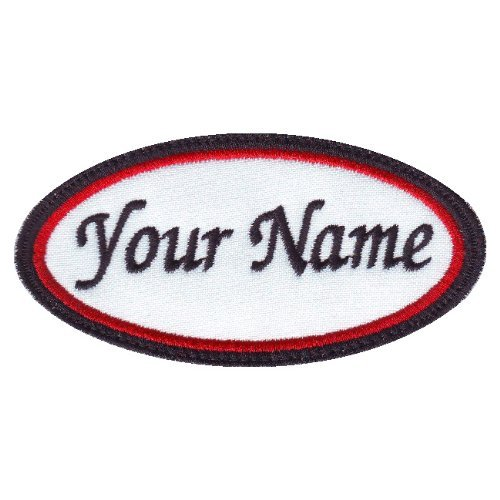 Oval Embroidered Name Tag