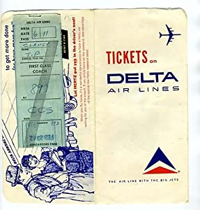 Delta Airline Ticket Jacket Ticket Reboarding Pass Luggage Tag Caracas