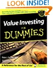 Value Investing For Dummies (For Dummies (Lifestyles Paperback))