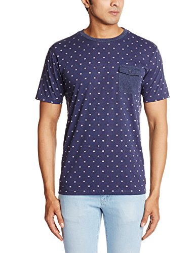DC-Shoes-All-Over-Crew-Camiseta-con-cuello-redondo-y-bolsillo-para-hombre