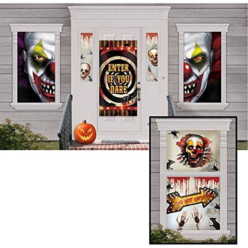 Amscan Kit de décoration Creepy Setter Scène de Carnaval