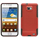 MINITURTLE, Premium 2 in 1 Double Layer Perforated Hard Hybrid Phone Case Cover for Prepaid Android Smartphone Samsung Galaxy S2 II I9100, Attain SGH-I777 /AT&T, Straight Talk SGH-S959G