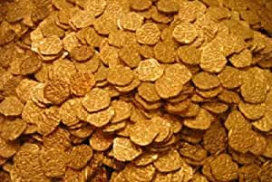 Lot of 100 - Shiny Gold Pirate Doubloons