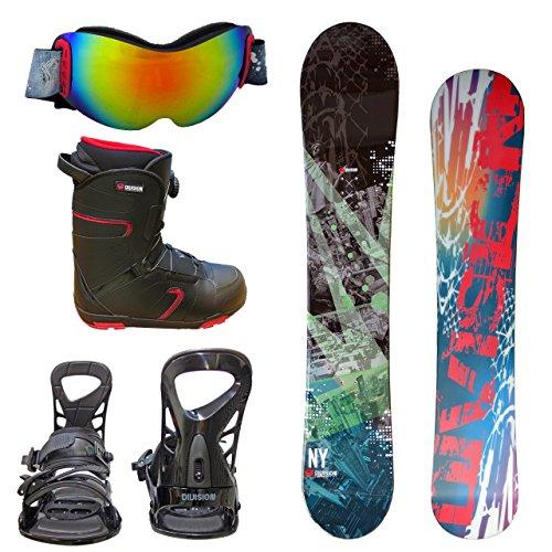 DIVISION メンズ スノーボード3点セット 152サイズ スノボー+バインディング+14レッド260