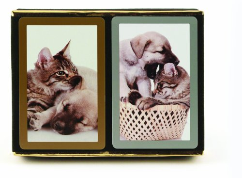Congress Cat and Dog Playing Cards (Pack of 2), Standard Index