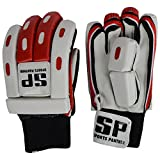 SP Sports Panther Match Unisex Leather And PU Batting Gloves Standard White