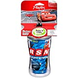 Playtex Baby Insulator, Spill-Proof 9 OZ Cup: Disney Cars Blue and Black Cup Lighting McQueen
