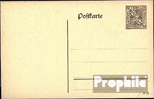 Württemberg dp42i b carte postale de service avec affranchisement suplémentair 1910 Paragraphe (Documents entiers postaux pour les collectionneurs)
