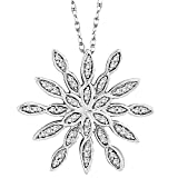 10K White Gold 1/4 ct. Diamond Fashion Pendant with Chain