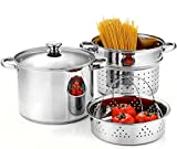 Cook N Home 02401 Stainless Steel 4-Piece Pasta Cooker Steamer...