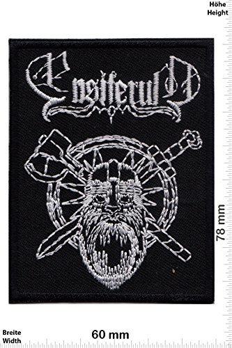 Patch - Ensiferum - Metal-Band - Musicpatch - Rock - Vest - Iron on Patch - toppa - applicazione - Ricamato termo-adesivo - Give Away