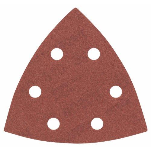 Bosch Klett 5 x Schleifpapier Deltaschleifer 93 mm Red Wood Korn 240