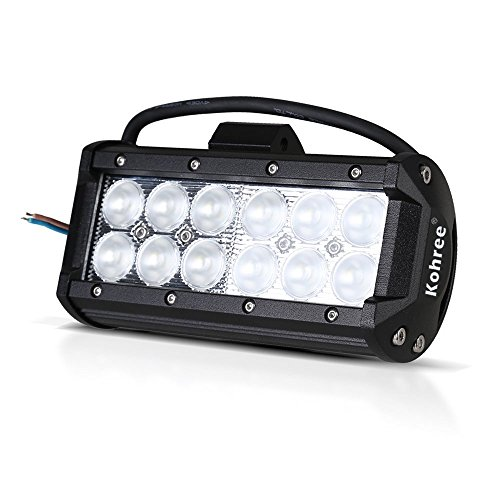 Kohree® 7 Inches 36W Cree Led Work Light Bar Ip67 Waterproof Flood Spot