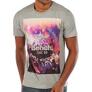 Bench Herren T-Shirt Club Crowd, Grey Marl, L, BMGA3175_GY001X