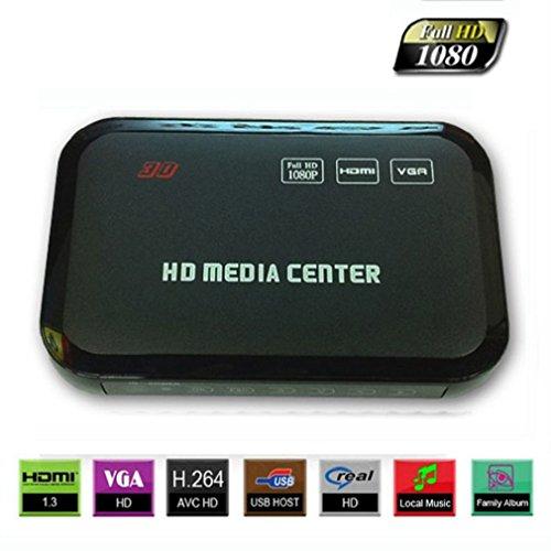 Towallmark(Tm)Full Hd 1080P Hdmi Media Player Romote Control Wireless Hdd Mkv Sd Usb Tv Avi Rm