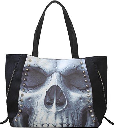 Handbag Solemn Skull Spiral Direct (Nero)