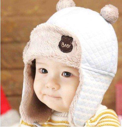 TIAN® - Nette Kinder Winter-Hippie Ohrenklappen-Mütze Lei Feng Cap 3504 Größe (50-52cm) - Sky Blue